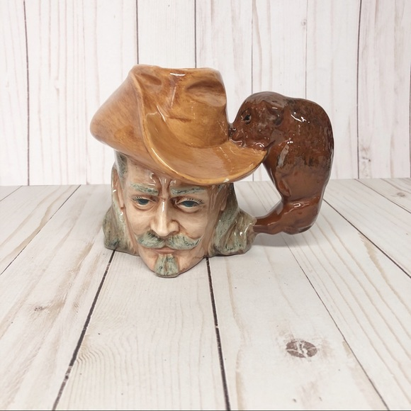 Vintage 1970's Byron Molds Cowboy Head Coffee Mug